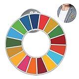 SDGs ピンバッジ バッチ バッジ 国連バッジ バッチ ピンバッジ 最新仕様 国連本部限定販売 琺瑯工芸 (1個)