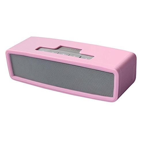 Soundlink Mini-Hülle, weiche Reisehülle aus Silikon für Bose Soundlink Mini 2 / Mini Wireless Bluetooth Lautsprecher (Pink)