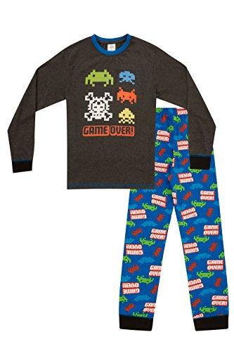 Pijama largo para niños con mensaje: «Game Over»,