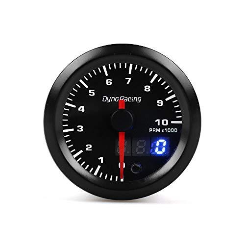 GYW-YW 2'52 mm de visualización Dual LED 7 Colores Asistencia hidráulica Temperatura del Aceite relación de Coche Calibre voltímetro Aire-Combustible Metro tacómetro EGT (Color : Tachometer)