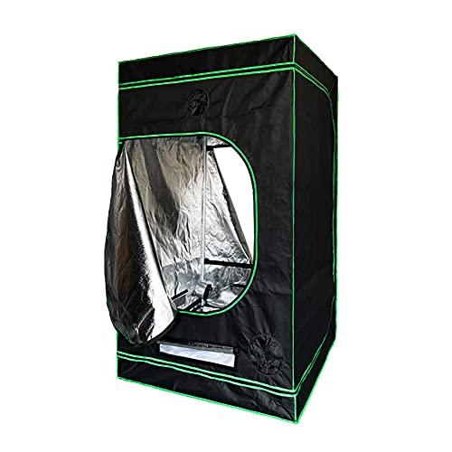 AJLDN Armario Cultivo Interior, Grow Tent Water-Resistant 150x150x200cm Mylar HidropÓNica Crecer Tienda Caja de Cultivo Interior para Cultivar Flores/Hogar Plantar, etc,Black