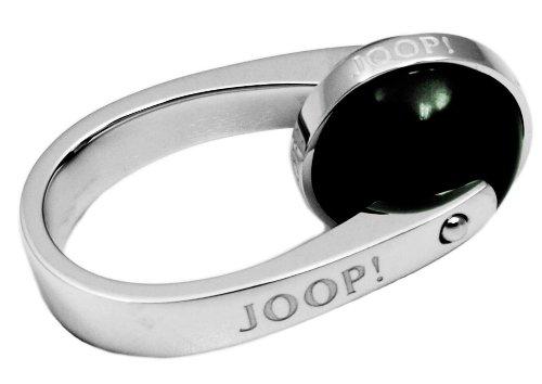 Joop! Damen-Ring 925 Silber Zirkonia Rundschliff grün Gr. 55 (17.5) - JPRG90397B550