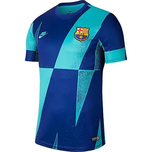 Nike 2019-2020 Barcelona Pre-Match Dry Training Football Soccer T-Shirt Jersey (Cabana)