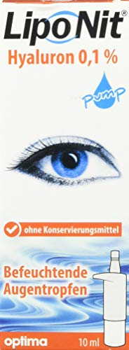 Liponit Augentropfen pump 0,1% Hyaluron, 1er Pack(1 x 10 ml)