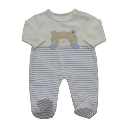 Pitter Patter Sleep Bear Velour Babygrow 42450B.