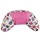 Emorias Coussin de cou portable pour ceinture de sécurité de voiture pour enfants et adultes 11*11*35cm rose
