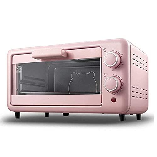 Horno Eléctrico de Sobremesa 11L Tostadora Horno Pan para hornear mini horno, horno de tostadora de convección con temporizador, configuración de asado, puede hornear pizza, tostadas, panecillos