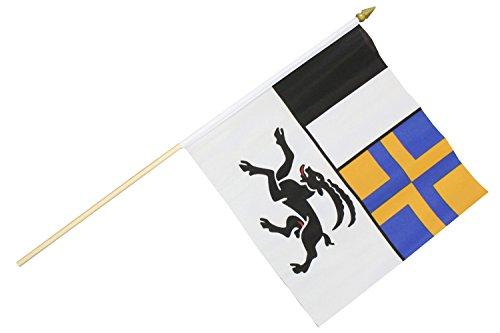 Creation Gross Fahne Flagge Graubünden 30 x 30 cm mit Holzstab Höhe 61 cm (2er Set) (0140316)