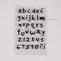 DIYの透明な小文字のスタンプクリアな数字のスタンプ装飾工芸品