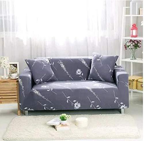 Funda Sofas 2 y 3 Plazas Gris Simple Fundas para Sofa con Diseño Universal,Cubre Sofa Ajustables,Fundas Sofa Elasticas,Funda de Sofa Chaise Longue,Protector Cubierta para Sofá