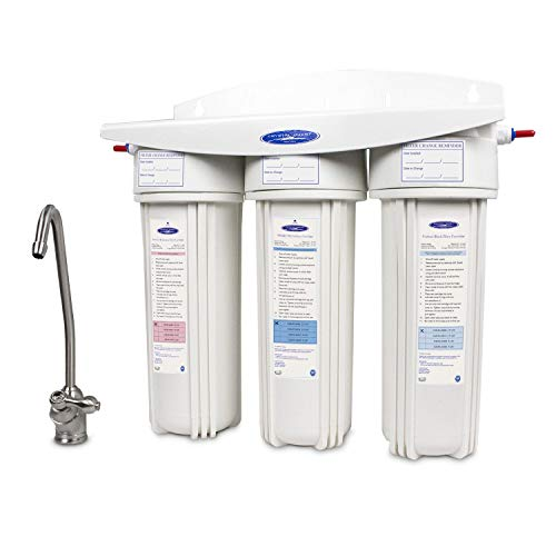 Crystal Quest Undersink Replaceable Triple Arsenic Water Filter System