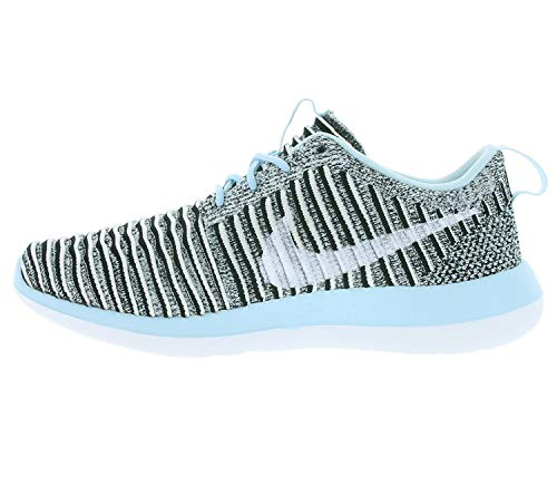 Nike Womens Roshe Two Flyknit Running Trainers 844929 Sneakers Shoes (uk 4 us 6.5 eu 37.5, glacier blue white black 402)
