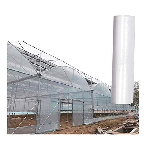 Tarpaulin LJIANW Waterproof Tarps Clear Plastic Cover Film Highly Transparent Vegetable Greenhouse Rainproof Dustproof Plant Cover, 24Sizes (Color : Clear, Size : 2x4m)