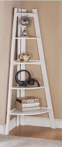 White Finish 5 Tier Corner Display Unit Shelf / Rack F04040 by...
