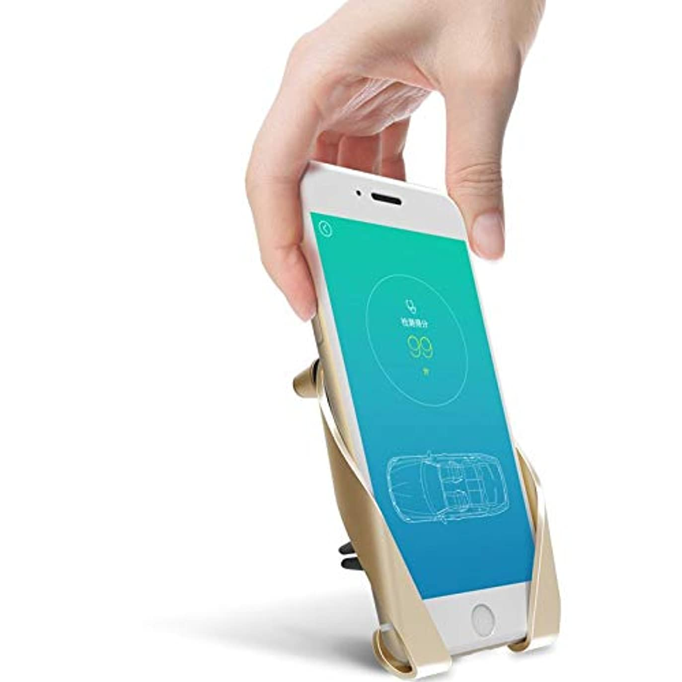 寓話手術ひどいJicorzo - サムスンiPhone用ユニバーサルカーベント携帯電話ホルダーカープラスチック製エアアウトレットアジャスタブル電話スタンドホルダー