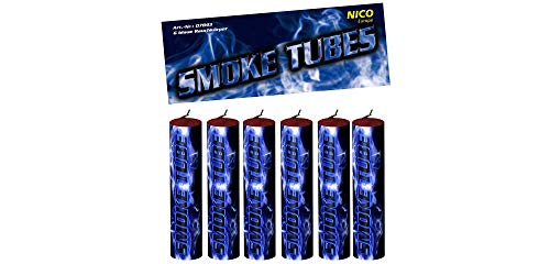 Nico 6X Smoke Tube Rauchfackeln Rauchbomben Rauchgenerator Raucherzeuger Rauchtopf (blau)