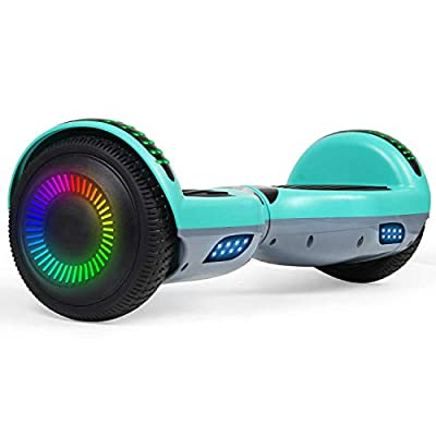 """SISIGAD Hoverboard 6.5"""" Two-Wheel Self Balancing Hoverboard with Bluetooth Speaker for Adult Kids Gift"""
