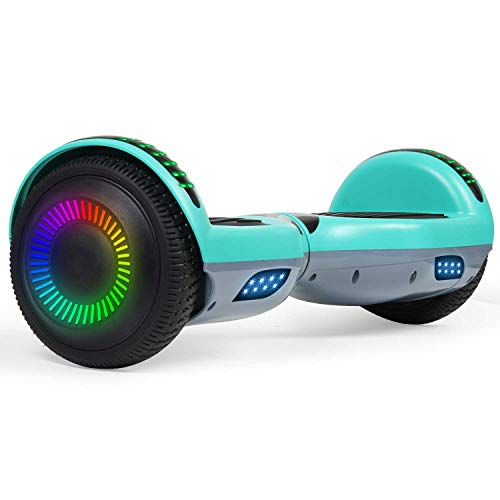 SISIGAD Hoverboard 6.5' Two-Wheel Self Balancing Hoverboard with Bluetooth Speaker for Adult Kids Gift