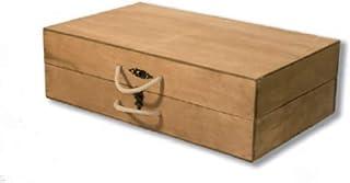 Maletín para Guardar Jamoneros Plegables y Desmotables. Caja de Madera con Asas para Transportar Soportes de Jamón y Paletillas. Medidas de 580 x 310 x 150 MMS, Ideal para Llevar a Cualquier Lugar