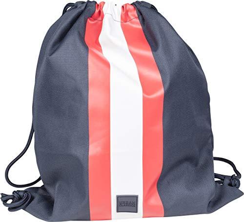 Urban Classics Striped Gym Bag Bolsa de cuerdas para el gimnasio, 42 cm, Multicolor (Navy/Fire Red/White)