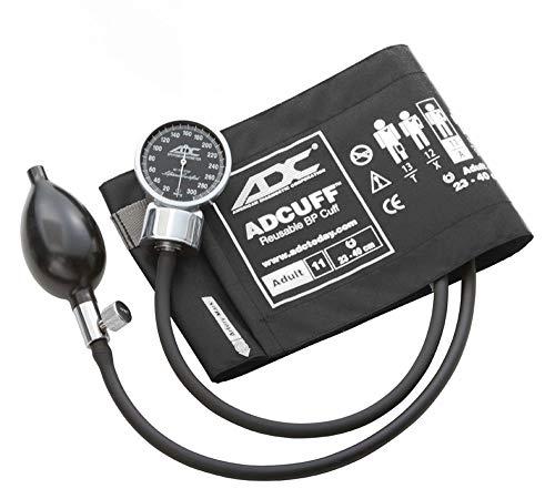 ADC Diagnostix 700-XBK Blutdruckmessgerät mit Manschette für große Erwachsene (Umfang 34-50cm), Schwarz