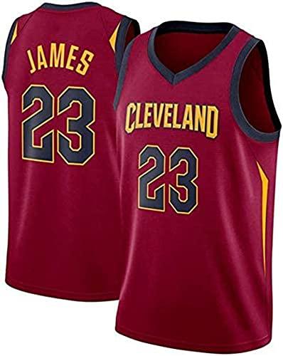 XZWQ Camiseta De La NBA para Hombre- Cavs 23# James Camisetas Unisex Edición Jersey Camiseta De Baloncesto De Malla Bordada Camiseta Sin Mangas,Rojo,XL