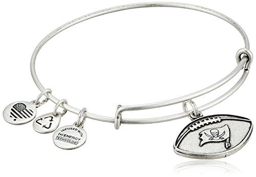 Alex and Ani Tampa Bay Buccaneers Football Charm Bangle Bracelet AS15TBB02RS