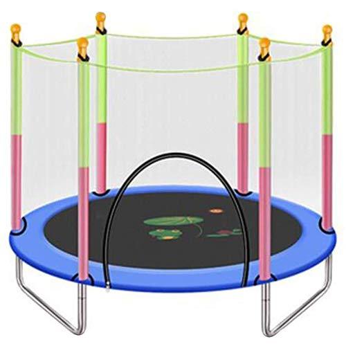 MXCYSJX Trampolino da Giardino Trampolino, Trampolino per Bambini con Recinzione di Sicurezza Grande Trampolino da Giardino all'aperto 55 × 49 Pollici,Blu