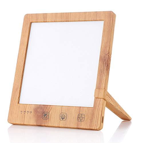 Czemo Lámpara de Luz Diurna Natural 10000 Lux, Lámpara de Luminoterapia sin UV, Lámpara de Terapia con Brillo Ajustables para SAD Depresión