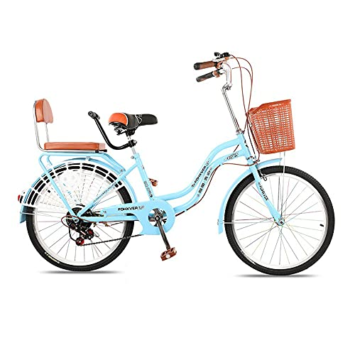Bike, 6-Speed Retro Fashion Commute Bicycle, 24 inch Leisure Bike, Low-Span Frame, Double Disc Brake, for Office Workers/Students/B / 165x95cm