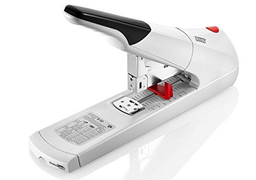 Novus B 50 Blockheftgerät (Bürohefter mit variabler Einlegetiefe bis 75 mm, 140 Blatt) grau