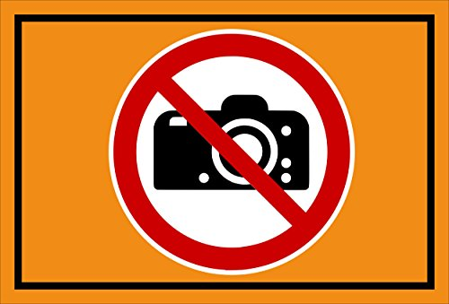 Melis Folienwerkstatt Adhesivo Señal De Prohibido–Fotografía. Cámara photographieren–entspr. DIN ISO 7010/ASR a1.3–s00355–032de E + + + en 20Variantes.