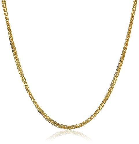 14 Karat 585 Gold Diamantschliff Spiga Weizen Gelbgold Kette - Breite 2 mm - Länge wählbar (45)