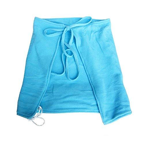 Couverture chauffée par USB pour les châles et genoux, enveloppe chauffante personnelle confortable, jet chauffé USB, alternative parfaite à un mini-appareil de chauffage bureau (70X45cm),Blue