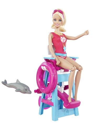 Mattel T9560 - Barbie, Ich wäre gern...Rettungsschwimmerin, Spielset