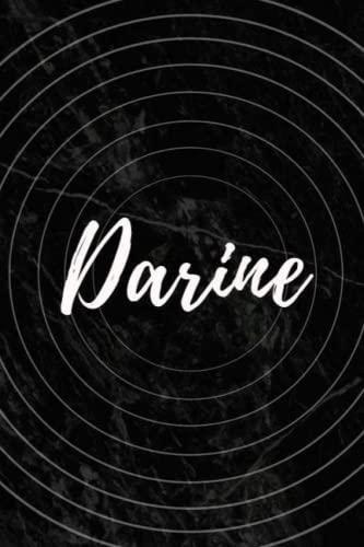Darine: Personalized Sketchbook with Name Darine | Blank Writing Drawing Notebook