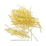 Zonster 100pcs Chapado en Oro Pernos de la Cabeza en Forma de T Headpins Pendiente de la Pulsera de la joyería Que Hace (20mm)