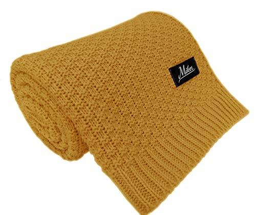 Coperta a maglia per bambini, ideale come coperta per neonati, coperta per bambini, coperta in lana o coperta per neonati, 80 x 100 cm, 100 x 120 cm (1033)