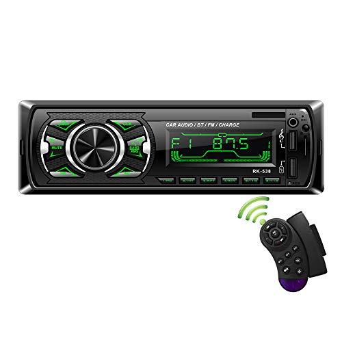 Autoradio mit Bluetooth Freisprecheinrichtung, bedee MP3 Autoradio 1 Din USB Digital Media-Receiver mit SWC Fernbedienung, 7 LED Farben, SD/AUX/FM Radio, Universal für Android/iPhone/iPod Play