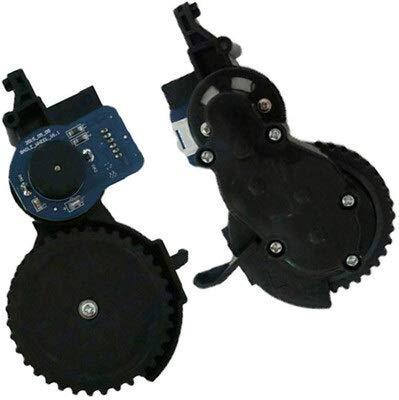TangMengYun Ruedas Motor de la Rueda Derecha Izquierda de la aspiradora Compatible con VILEDA VR302 Robot CLEABLE CLEAPORTE REEMPLAZO del Motor DE LA Rueda Ruedas de Robot Aspirador (Color : Large)