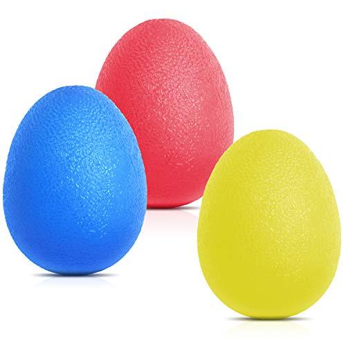 Peradix Pelotas Ejercicio 3 Piezas,Pelotas para Ejercicio para Masaje sourceton Egg-Shape Mano 3 Niveles de Resistencia para Desarrollar Musculos Rehabilitación de Manos y Dedos