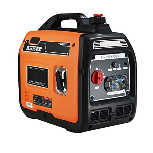 24V DC Generator 1800 watts Portable Inverter Generator Low Noise and Lightweight Backup Power for On-Board Electrical Appliances for Trucks and RVs