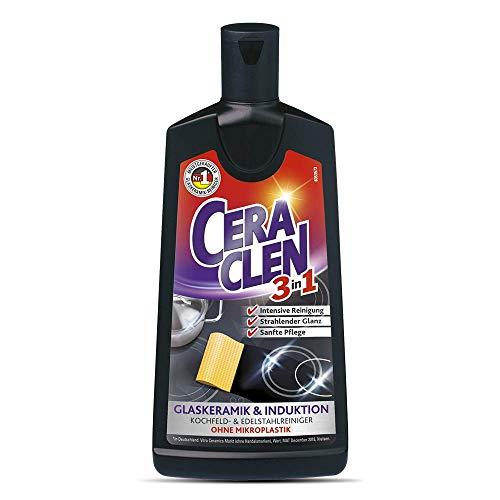 Ceraclen Glaskeramik Reiniger und Pfleger, Cera Clen, 3er Pack (3 x 200 ml)