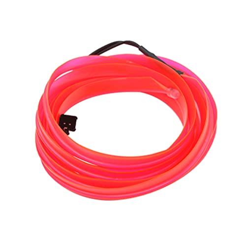 ZLYPSW Tira de luces LED para iluminación interior del coche, guirnalda de alambre, línea de tubo de luz de neón flexible con unidad de cigarrillos (color rosa, tamaño: 5M-USB)