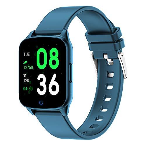 HX0945 KW17 Smart Watch Women Heart Rate Fitness Tracker Wristwatch Women Men Smartwatch Women Smart Band Smart Bracelet VS K19 KW10,Blue