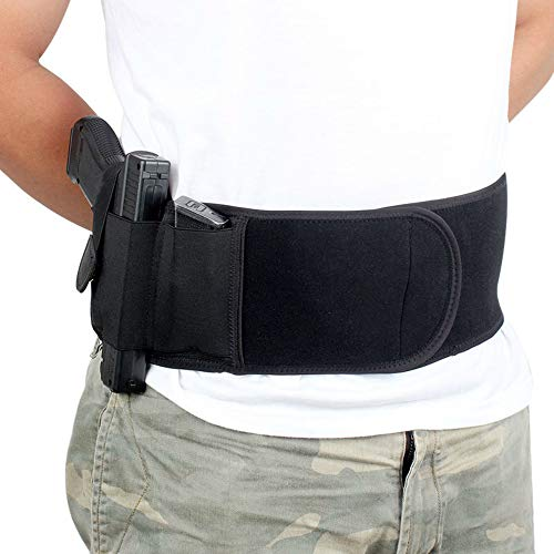 Lfnny Outdoor Tactical Belt Holster, Concealed Carry Belt Holster for Men and Women, Fits Full Size Pistols and Revolvers.