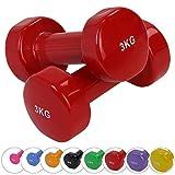 BB Sport 2 x Vinylhantel 0.5 kg - 5 kg Vinyl Hantel Set, Gewicht:2 x 2.5 kg