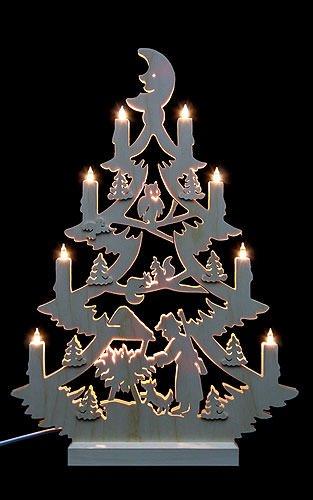 Schwibbogen Lichterspitze - Tannenbaum beidseitig - 47 x 34 x 5,5 cm - Michael Müller