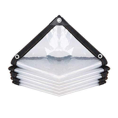 ZXHQ Lona Impermeable A Prueba De Viento 2x4m, Lona De ProteccióN Transparente, Lona Transparente con Ojale Durable ProteccióN FríO para Motocicletas Carpa del