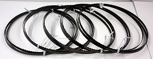 5 x Standard Sägeband Bandsägeband Bandsägeblatt Sägebänder 1400 mm x 6 mm x 0,65 mm x 6 Zähne pro Zoll , für Holz , Hartholz , Brennholz , Sperrholz , Quer- und Schweifschnitte,geeignet für Maschinen wie : Atika Einhell Westfalia CMI uvm